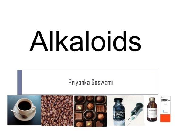 Loại hóa trị Alkaloids