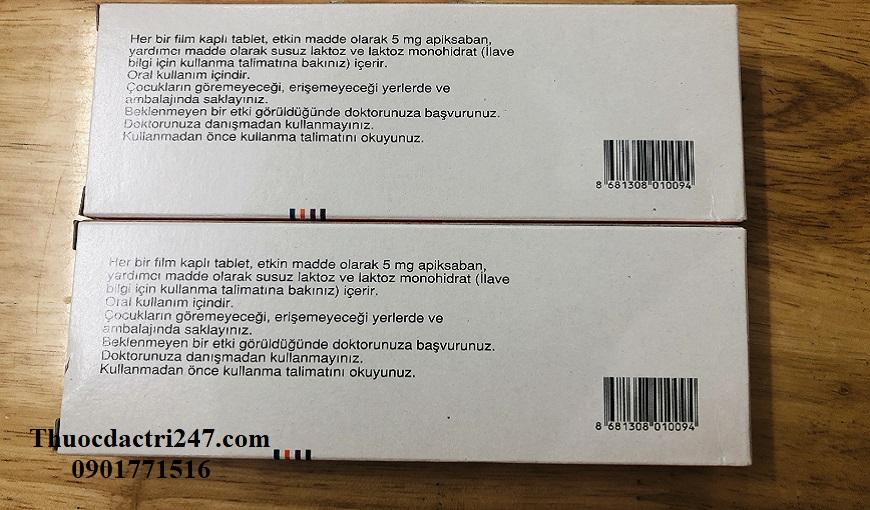 Thuoc-Eliquis-5mg-Apixaban-Cong-dung-va-lieu-dung