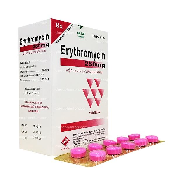 Những điều cần biết về thuốc kháng sinh Erythromycin