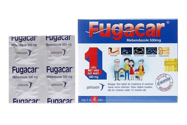 Thuốc tẩy giun Fugacar bao nhiều tiền?