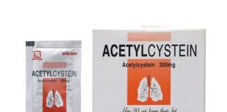 Acetylcystein 200mg gói bột giá bao nhiêu?