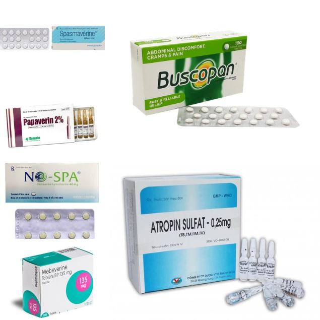 Top 6 thuốc giảm đau, chống co thắt cơ trơn